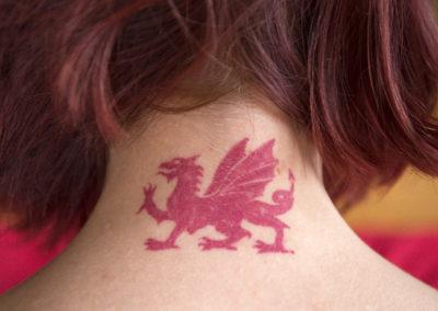Magické okultní tetování rudý drak krále Artuše Wales